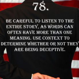 Deception Tip 78 - How To Detect Deception - A Guide To Deception - Author Spencer Coffman