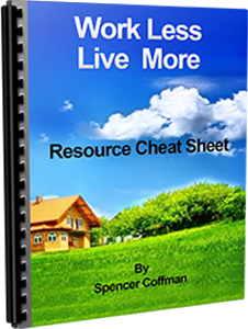 Work Less Live More Resource Cheat Sheet By Spencer Coffman