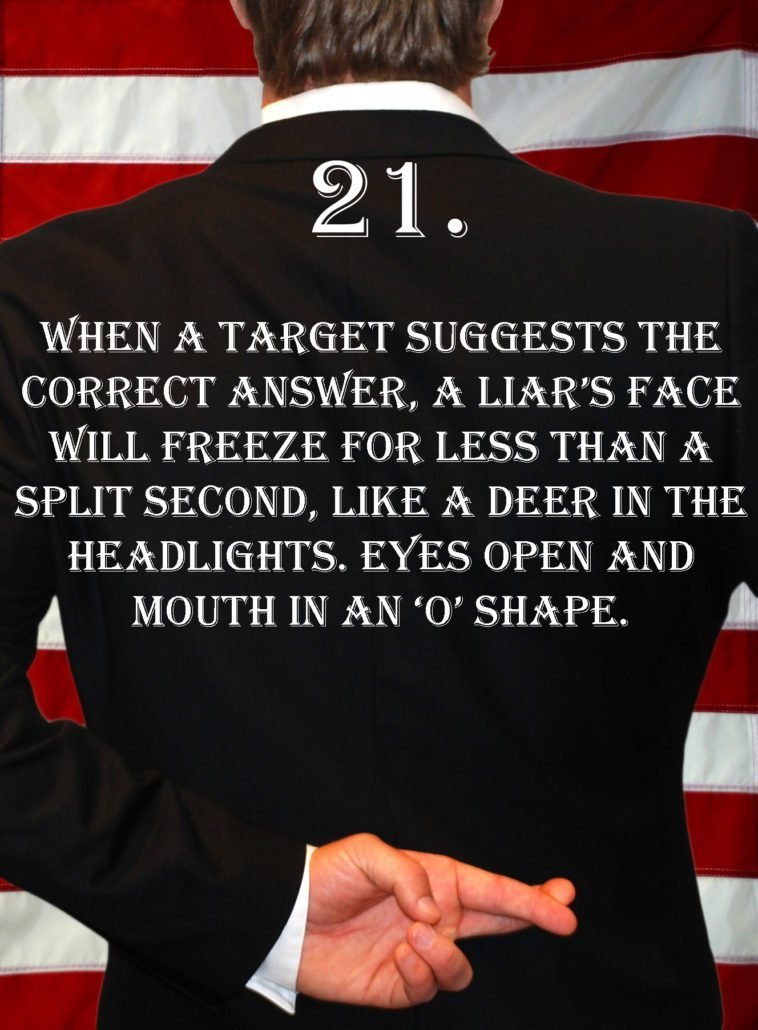 Deception Tip 21 - How To Detect Deception - A Guide To Deception