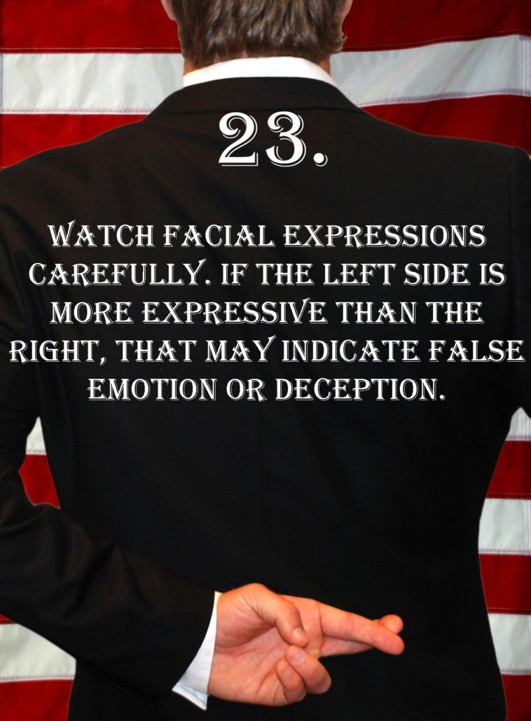 Deception Tip 23 - How To Detect Deception - A Guide To Deception