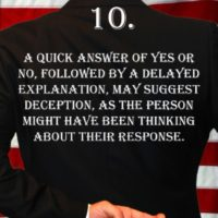 Deception Tip 10 - How To Detect Deception - A Guide To Deception - Author Spencer Coffman
