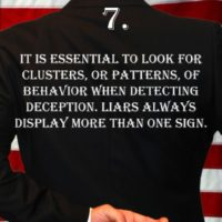 Deception Tip 7 - How To Detect Deception - A Guide To Deception - Author Spencer Coffman