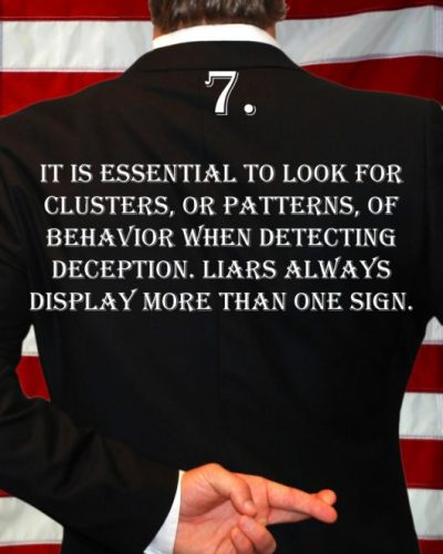 Deception Tip 7 - How To Detect Deception - A Guide To Deception