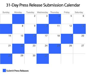 leveraging your press release 31 day submission calendar spencer coffman
