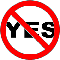 saying no crossed out yes spencer coffman